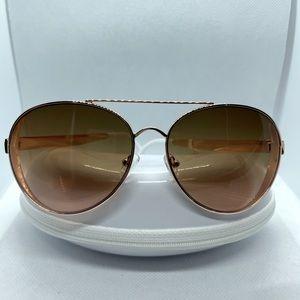 NWT Jessica Simpson Rose Gold Aviator Sunglasses